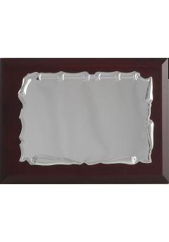 placa de homenaje comercial de metal con forma pergamino redondo 17