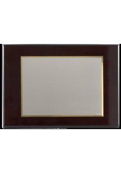 placa de homenaje banado en plata con forma rectangular y marco biselado 11