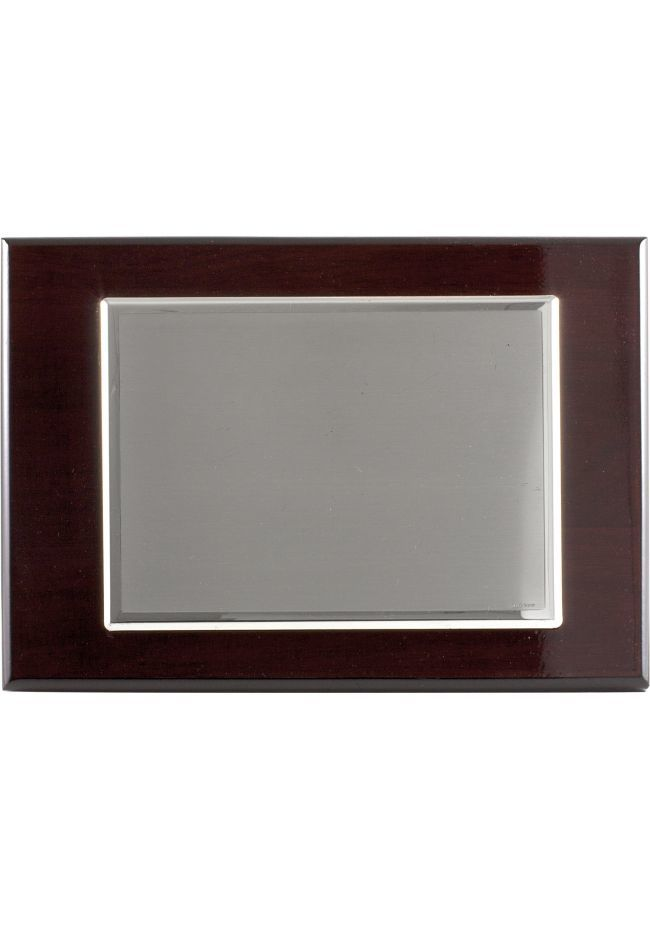 Plaque tribute silver plated rectangular shaped and double frame