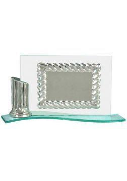 placa de homenaje de cristal