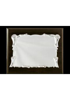 placa de homenaje cristal en forma rectangular con una columna en el lateral 11