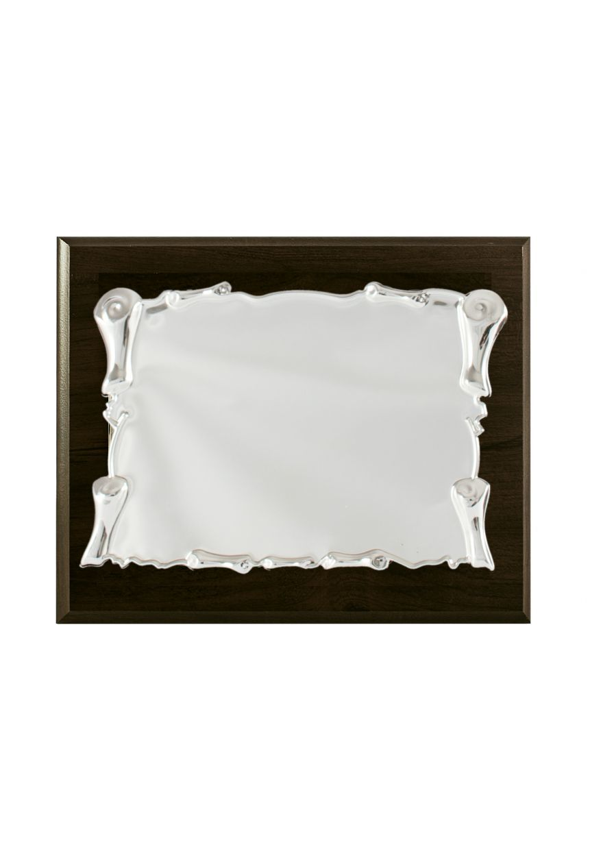 Placa de homenaje pergamino aluminio