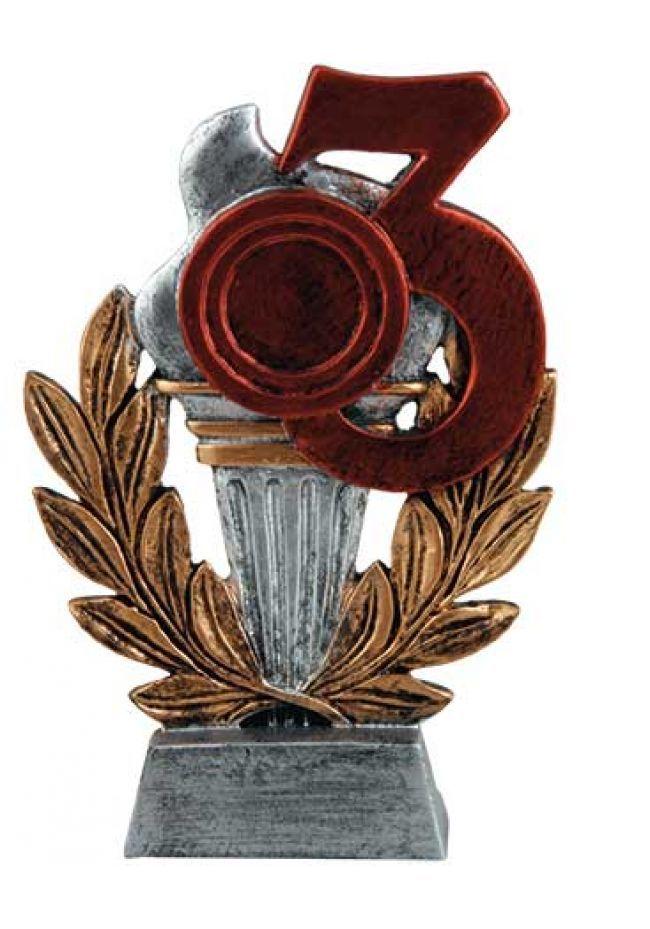 Trofeo para premios antorcha dorado nº3