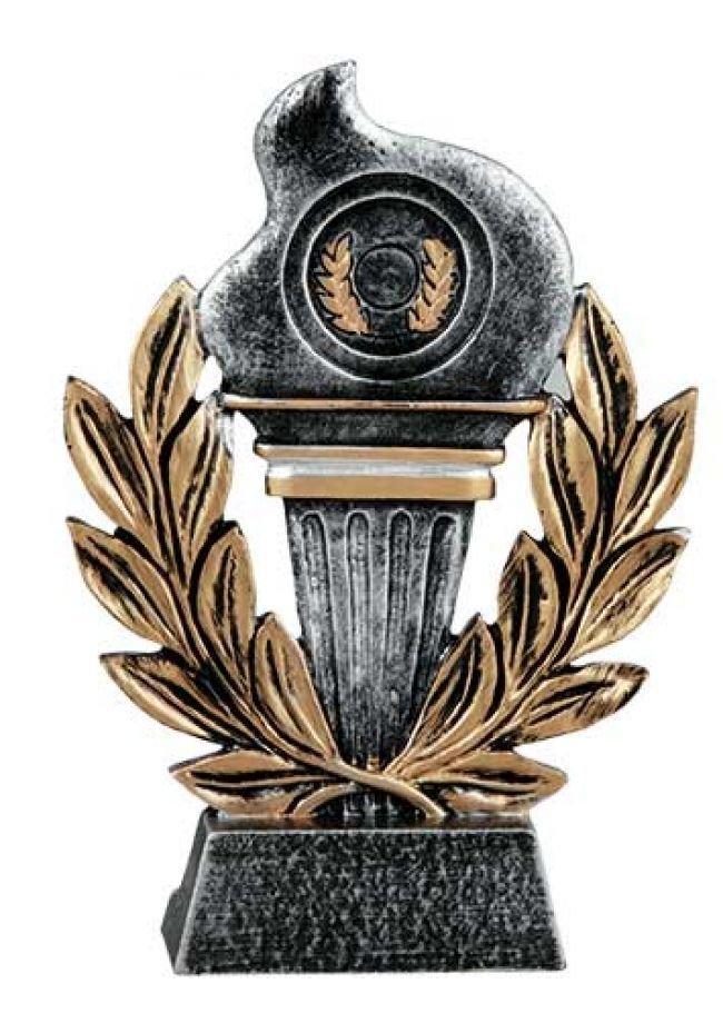 Trofeo para premios con antorcha dorado nº1