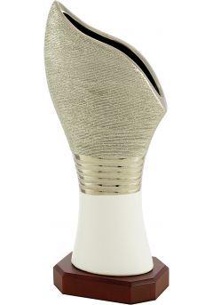 Trofeo jarrón cerámica biselado
