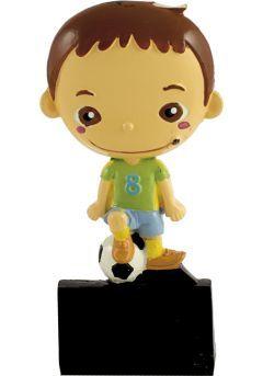 Trofeo deportivo con muñeco fútbol