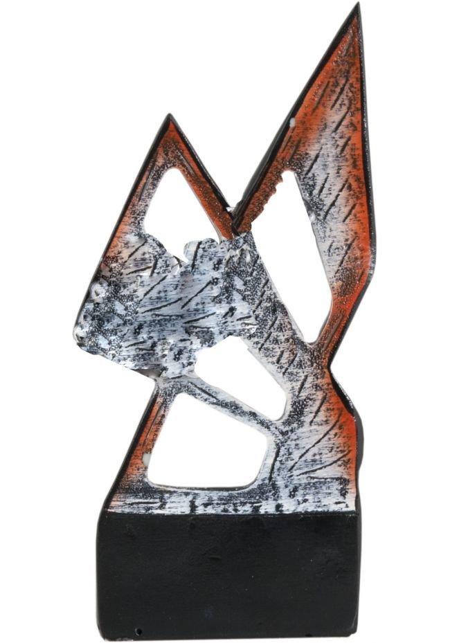Trofeo deportivo metálico abstracto