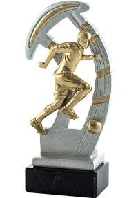 Resin sports trophy football