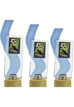 Trofeo cristal deportivo rectángulo detalle onda azul Thumb