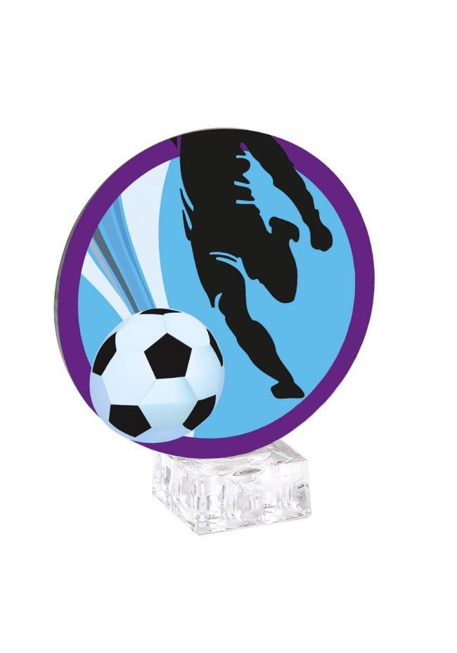 Trofeo esférico de fútbol