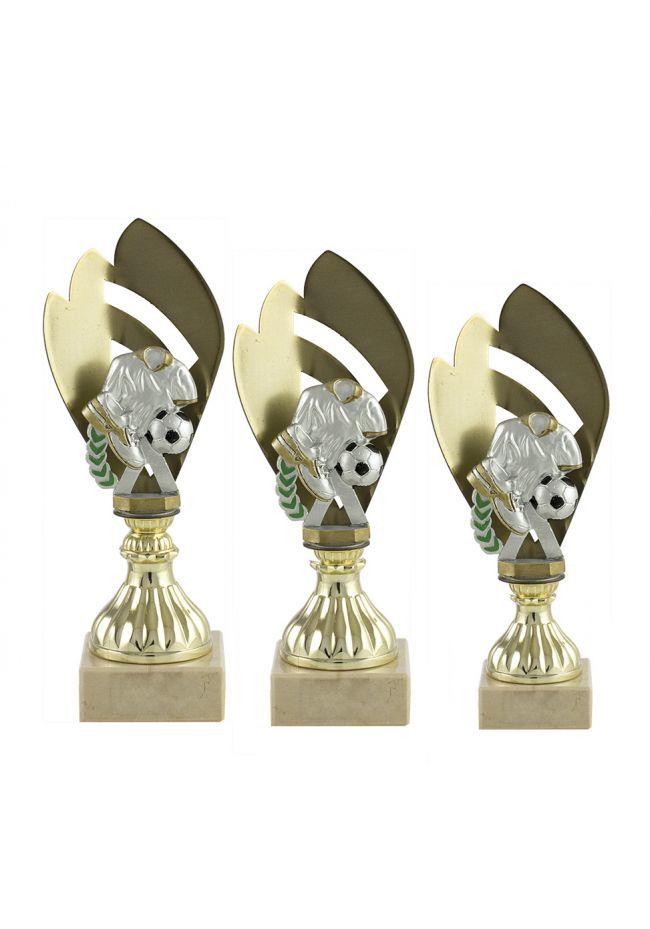 Trofeo metal media flor deportivo