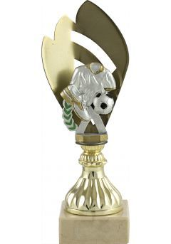 Trofeo metal media flor deportivo Thumb
