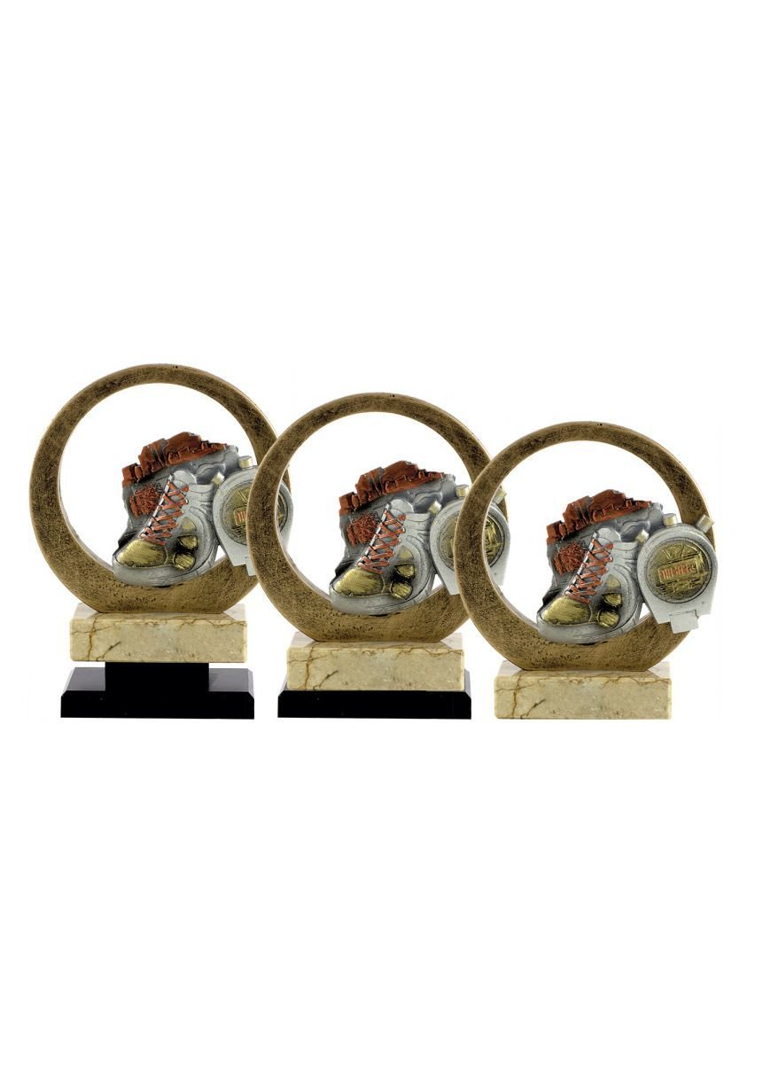 Trofeo resina circular deportivo