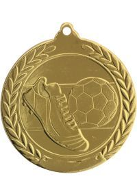 Médaille de football en relief 50 mm