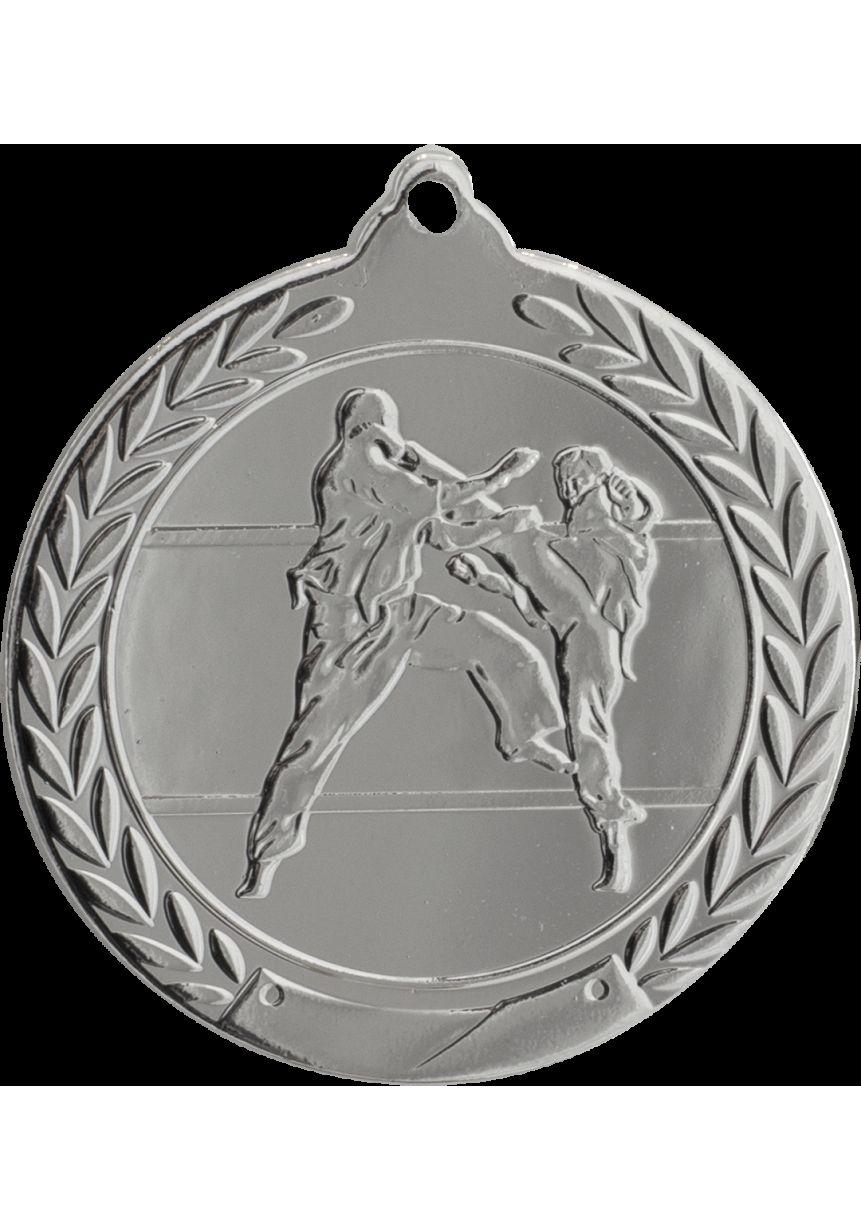 Karate medal embossed 50 mm