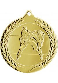 Karate medal embossed 50 mm