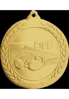 Medalla de natación en relieve