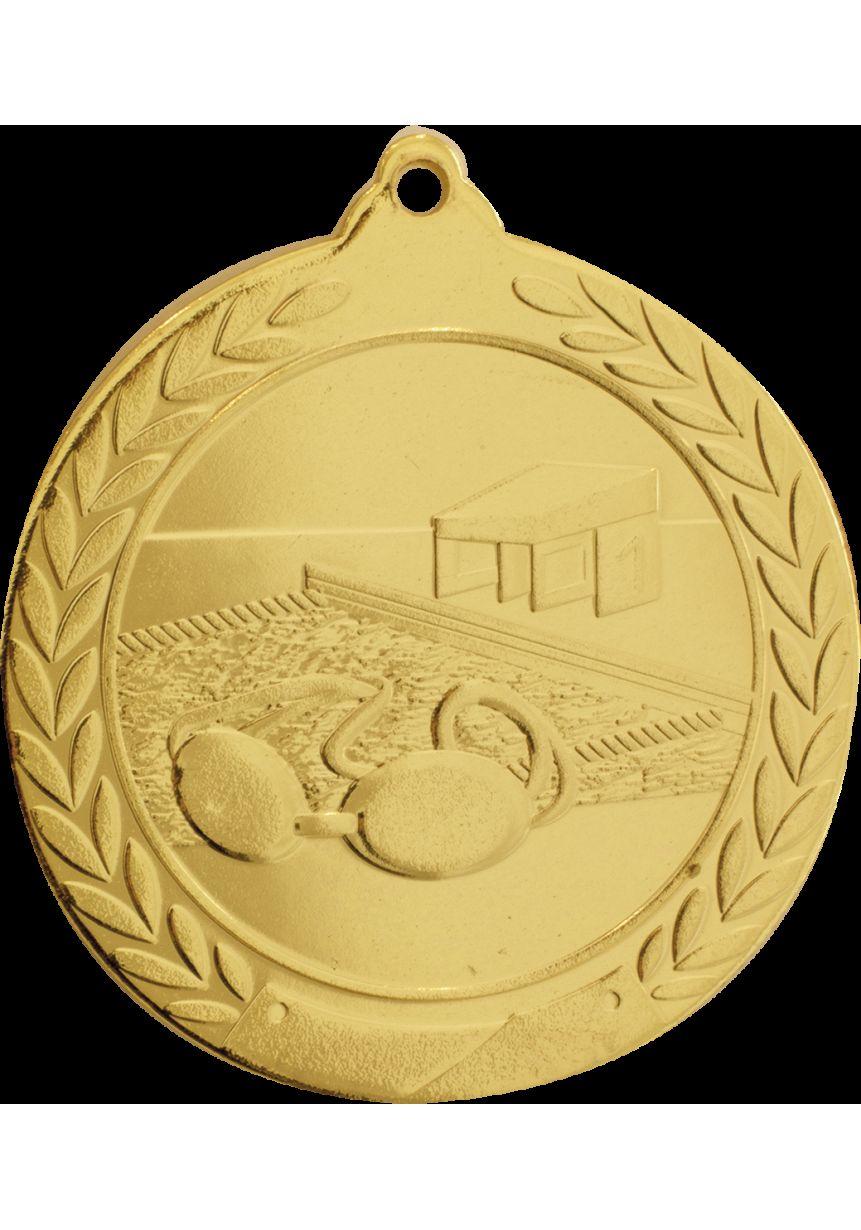 Swimming medal embossed
