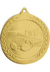 Swimming medal embossed
