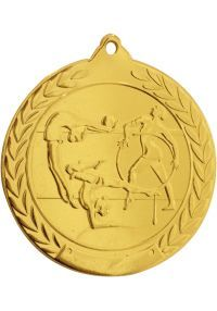 Gymnastics medal embossed 50 mm