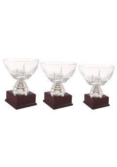 Trofeo copa con centro cristal bajo Thumb