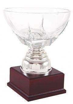 Trofeo copa con centro cristal bajo