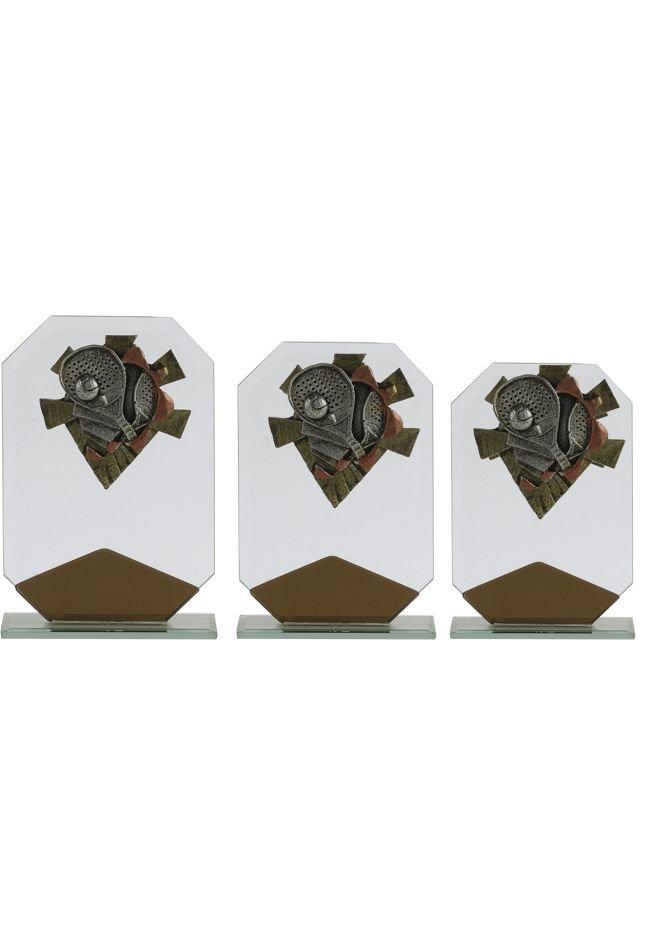 Trofeo octogonal marrón deportivo