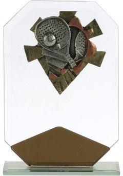 Trofeo octogonal marrón deportivo Thumb