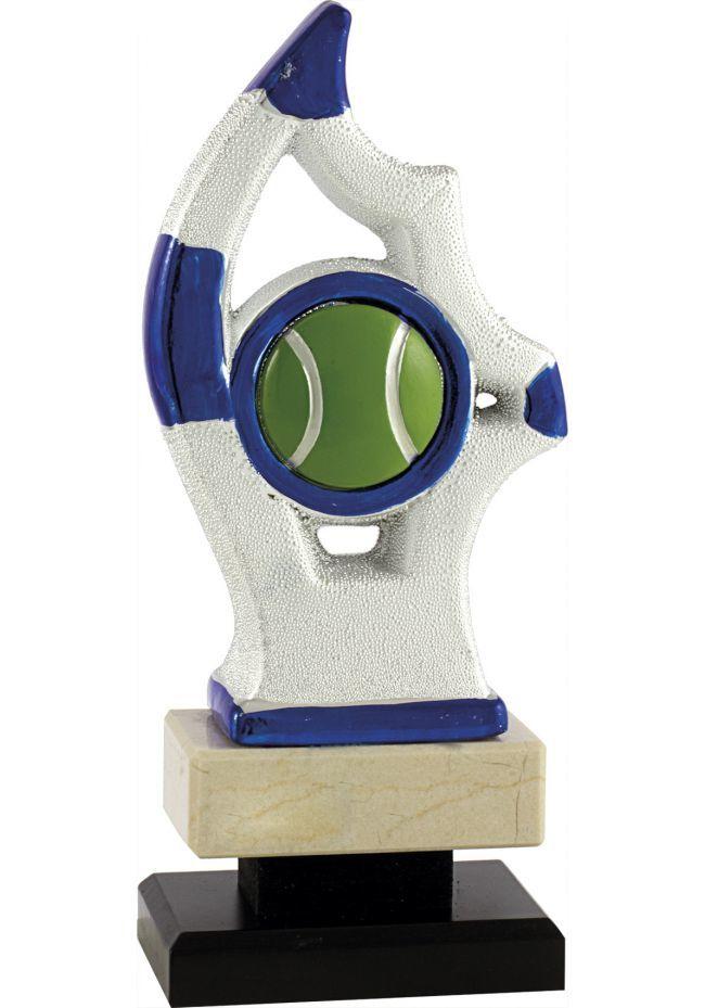 Trofeo de resina vela bicolor deportivo