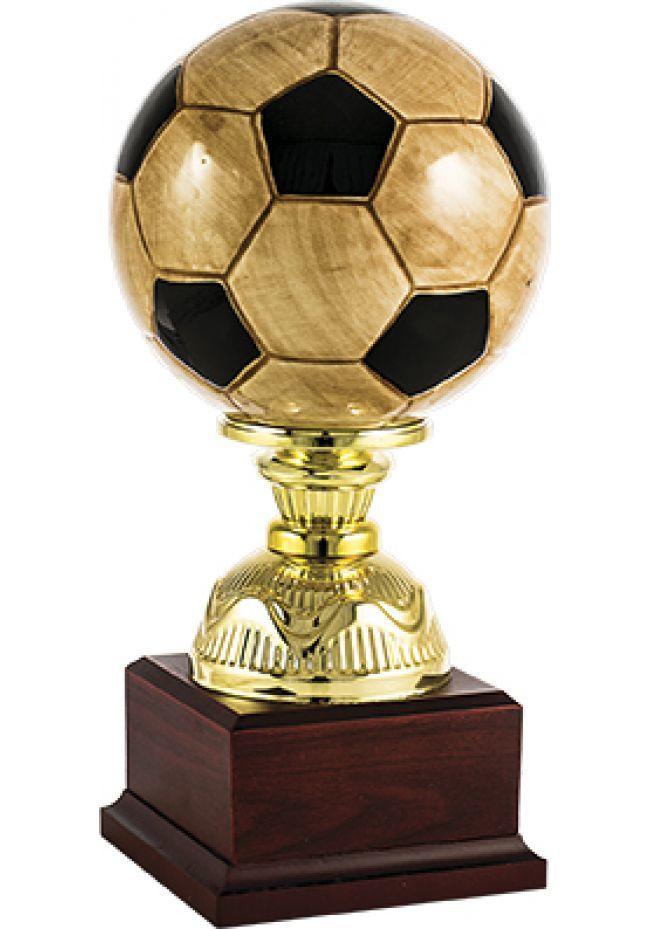 Trofeo pelota fútbol