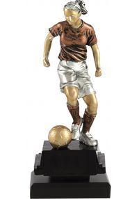 Trofeo de fútbol con figura femenina-1