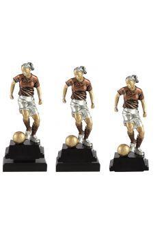 Trofeo de fútbol con figura femenina Thumb
