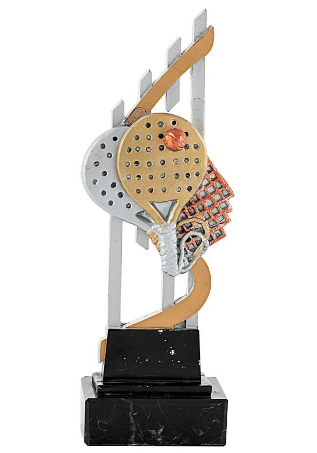 Double paddle racket trophy