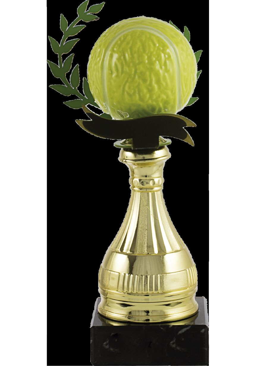 Trofeo pelota tenis alegórico