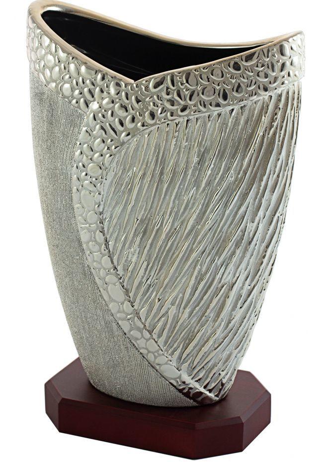 Trofeo copa jarrón porcelana piedras