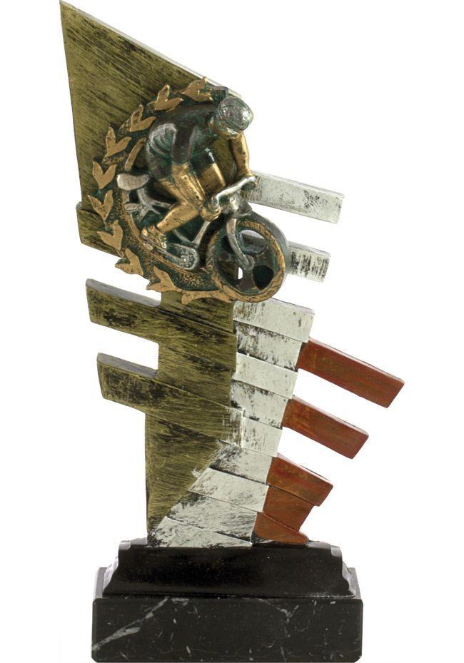 Trofeo abstracto ciclismo