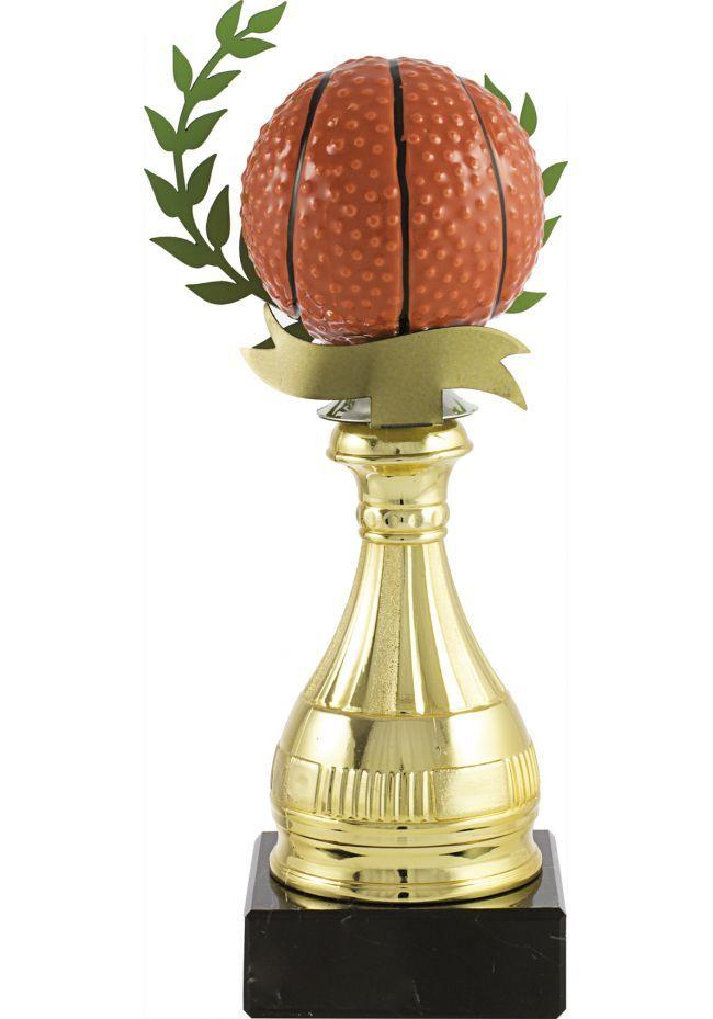 Trofeo pelota baloncesto alegórico
