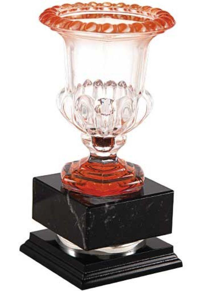 Trofeo copa cristal roja
