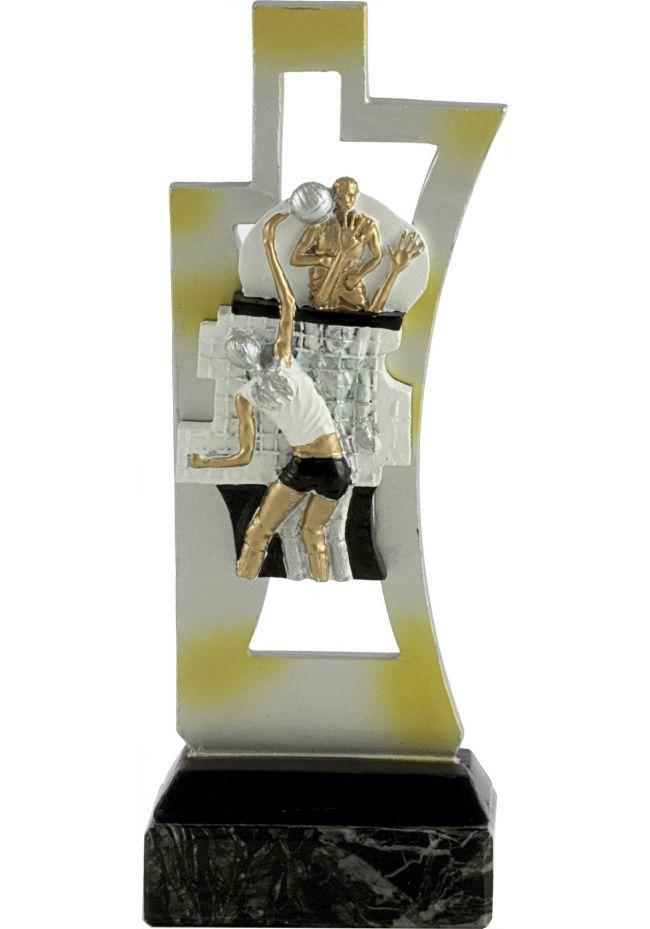 Trofeo de voleibol en resina