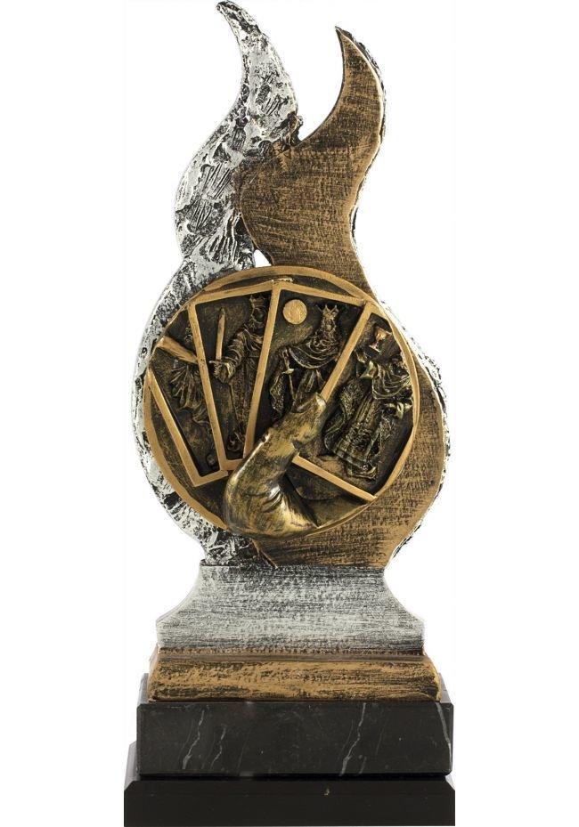 Trofeo de resina cartas