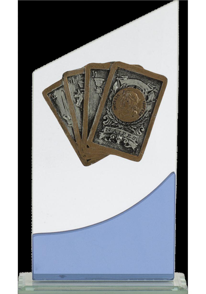 Trofeo cuña cartas