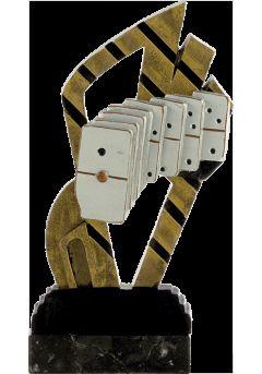 Trofeo abstracto dominó