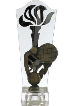 Trofeo antorcha cristal petanca Thumb