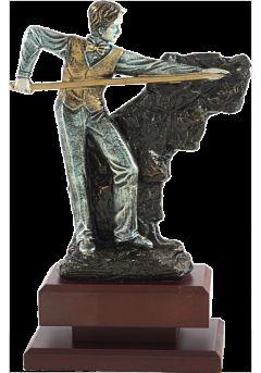 Trofeo billar resina