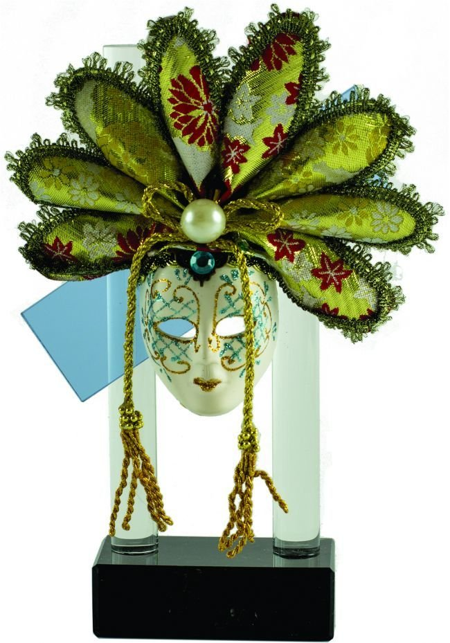 Trofeo máscara carnaval cristal