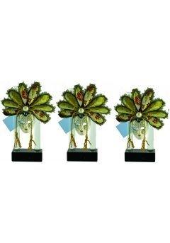 Trofeo máscara carnaval cristal Thumb