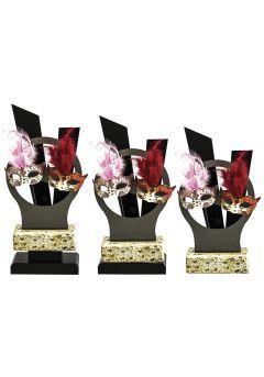 Trofeo Metal con dos máscaras  Thumb