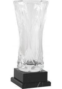 Trofeo jarrón cristal base mármol