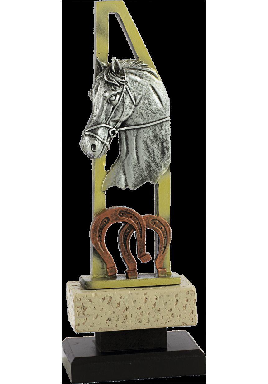 Trofeo pentágono caballo