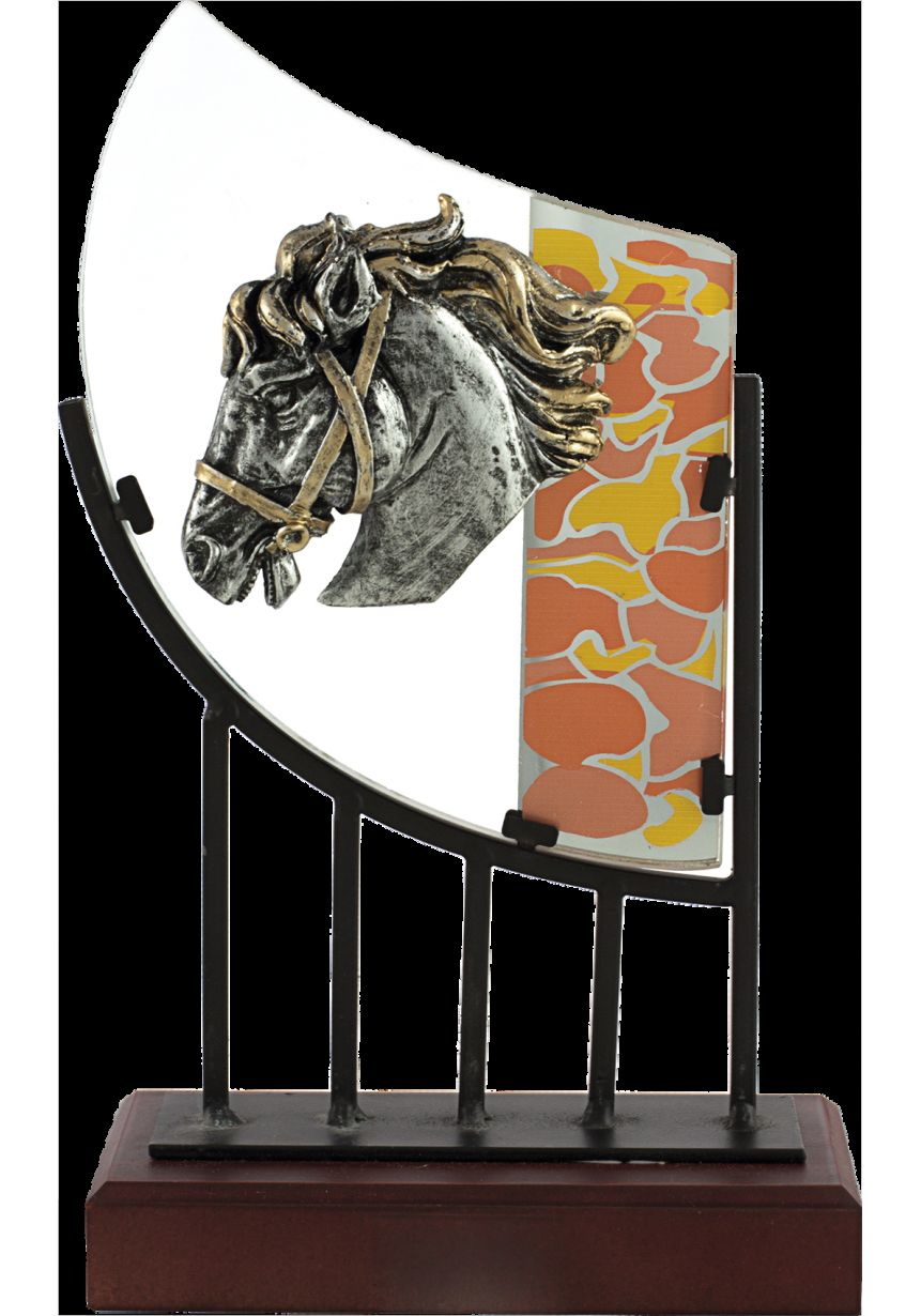 Trofeo cristal caballo